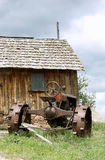 Vintage antique old tractor. Stock Photo