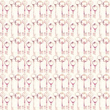 Vintage Antique pink key Seamless repeat pattern Royalty Free Stock Images