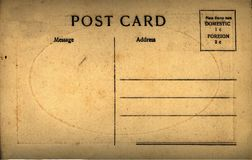 Vintage Antique Post card Stock Photography