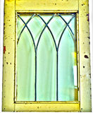 Vintage antique rustic yellow window Stock Image