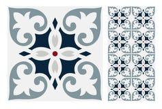 Vintage antique seamless design patterns tiles in Vector illustration. Vintage antique seamless design patterns tiles wall craft design patterns, vector Stock Image