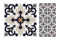 Vintage antique seamless design patterns tiles in Vector illustration. Vintage antique seamless design patterns tiles wall craft design patterns, vector Stock Photography
