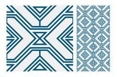 Vintage antique seamless design patterns tiles in Vector illustration Royalty Free Stock Image