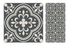 Vintage antique seamless design patterns tiles in Vector illustration Stock Images