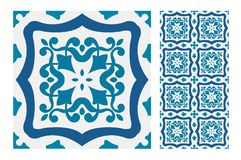 Vintage antique seamless design patterns tiles in Vector illustration Royalty Free Stock Photos