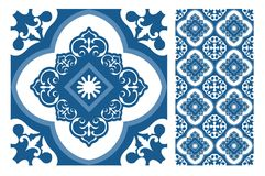 Vintage antique seamless design patterns tiles in Vector illustration Royalty Free Stock Images