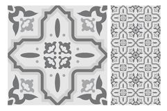 Vintage antique seamless design patterns tiles in Vector illustration Stock Photo