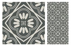 Vintage antique seamless design patterns tiles in Vector illustration Stock Photos