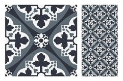 Vintage antique seamless design patterns tiles in Vector illustration Stock Image