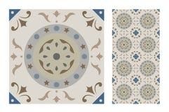 Vintage antique seamless design patterns tiles in Vector illustration. Vintage antique seamless design patterns tiles wall craft design patterns, vector Stock Photo