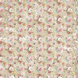 Vintage antique shabby flower paper background, seamless repeat pattern texture Royalty Free Stock Images