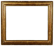 Vintage Antique Shabby Gold Frame. A vintage shabby rustic gold frame Stock Photography