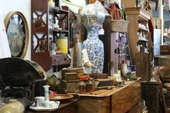 Vintage Antique Shop Stall royalty free stock image