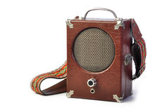 Vintage Antique speaker Stock Photo