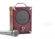Vintage Antique speaker Royalty Free Stock Images