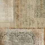 Vintage Antique Text Paper Background Royalty Free Stock Photos