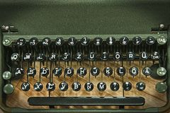 Vintage antique typewriter keyboard Stock Photos