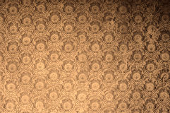 Vintage antique weathered floral wallpaper in polaroid retro effect filter. Stock Photos