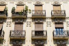Vintage Apartament Building Block Facade Stock Image