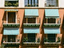 Vintage Apartament Building Block Facade Stock Photography