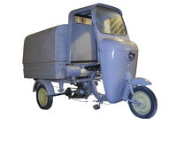 Vintage ape piaggio cropped Stock Images