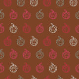 Vintage apple outline polygon colorful pattern Royalty Free Stock Images
