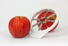 Vintage Apple Slicer. Sturdy plastic apple slicer with metal cutting blades Royalty Free Stock Image