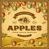 Vintage apples label Stock Photography