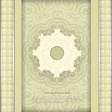 Vintage arabesque pattern background with circle frame Stock Image
