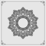 Vintage arabesques mandala/rosette Stock Photography