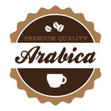 Vintage Arabica Coffee Label Royalty Free Stock Photography
