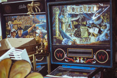 Vintage arcarde game machines Stock Photography