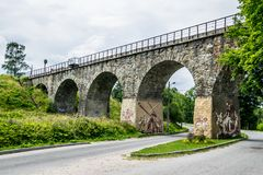 Free Vintage Arched Railway Bridge Royalty Free Stock Photos - 155095388