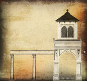Vintage Architectural Background Stock Image