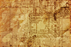 Vintage architectural drawing Stock Image