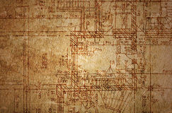 Vintage architectural drawing Stock Photo