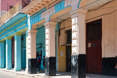 Vintage Architecture Gaining Colors in Havana,Cuba Royalty Free Stock Photos
