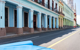 Vintage Architecture Gaining Colors in Havana,Cuba Stock Photography