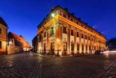 Vintage architecture of Wroclaw in the evening. Stock Image