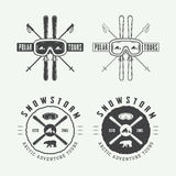 Vintage arctic mountaineering logos, badges, emblems and design Royalty Free Stock Photography