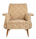 Vintage armchair on white background. Royalty Free Stock Images