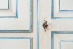 Vintage armoire detail with key and decoration Stock Photography