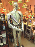 The vintage armor knight. Standalone armor knight model in vintage store Royalty Free Stock Images