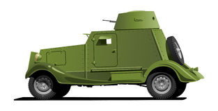Vintage armored car Stock Photo