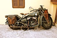 Vintage Army Bike stock images