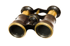 Vintage army binocular antique old Stock Image