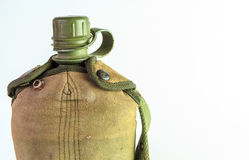 Vintage Army water canteen Royalty Free Stock Photo