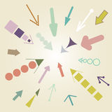 Vintage Arrow Vector Set Stock Photo