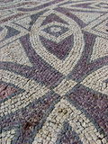 Vintage art. Mosaic outside a medieval church in Paphos, Cyprus Stock Photo