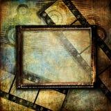 Vintage art. Framed background in grunge style Stock Photography